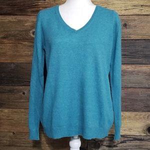 Ann Taylor Cashmere V-Neck Sweater